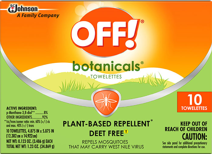 OFF!® Botanicals Wipes