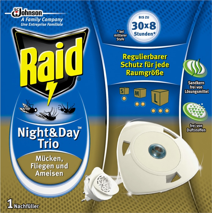 Raid® Night & Day Trio Insektenstecker Nachfüller