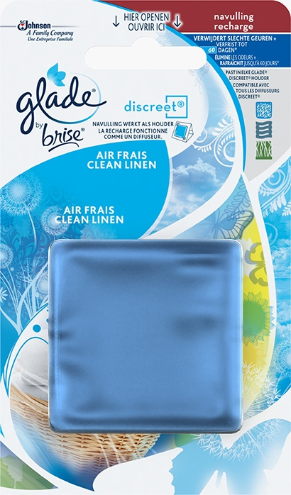 Glade® by Brise® Discreet® navulling Clean Linen
