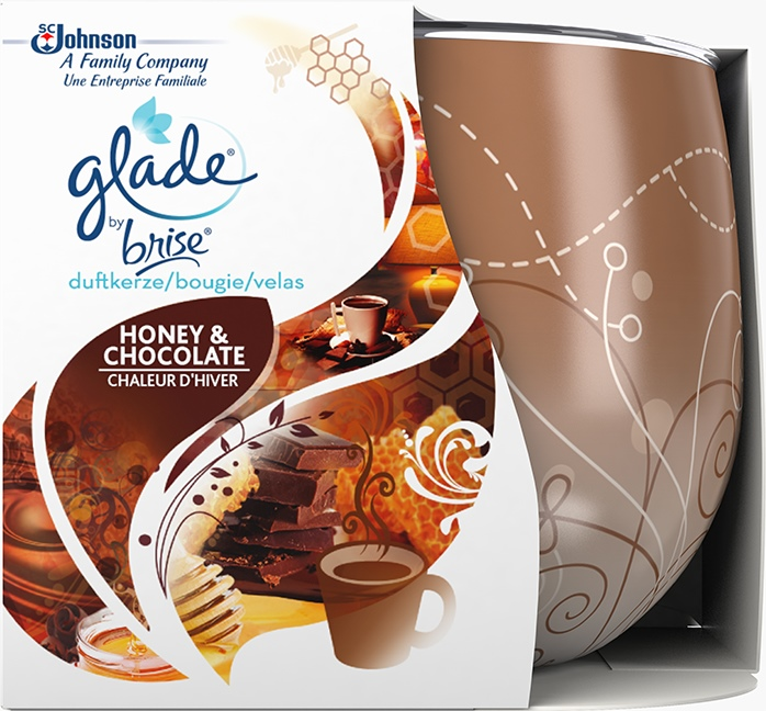 Glade® By Brise® Bougie Honey & Chocolate
