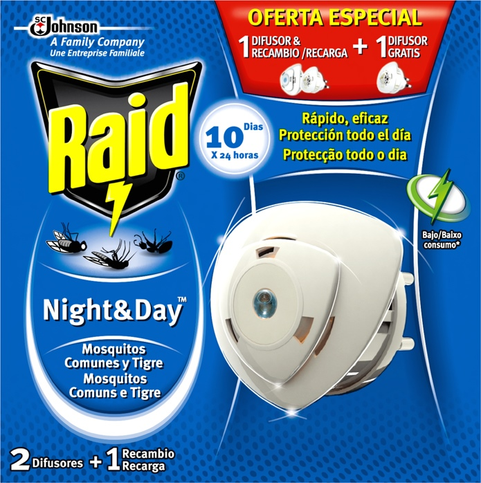 Raid® Night & Day Aparato
