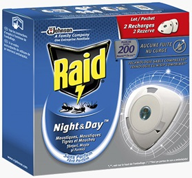 "Raid® Night&Day™ Recharge  ""Lot 2 Recharges"""