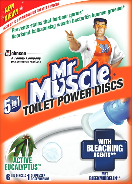 Mr Muscle® Power Discs Active Eucalyptus Holder (Discontinued)