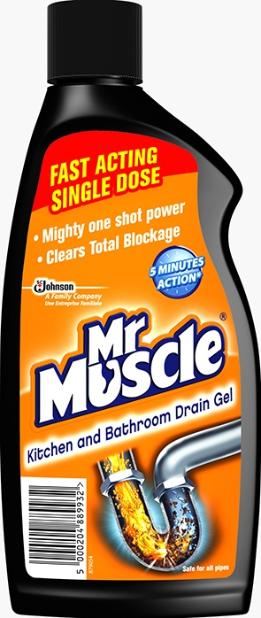 Mr Muscle® Kitchen & Bathroom Drain Gel