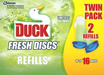 Duck® Fresh Discs Twin Refill Lime