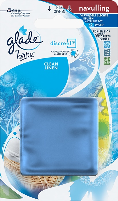 Glade®By Brise® Discreet® Navul Clean Linen