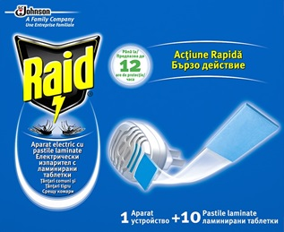 Raid® Electric Cu Pastile Laminate Aparat