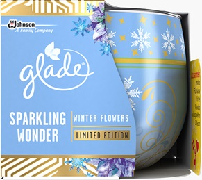 Glade® Duftkerze Sparkling Wonder Winter Flowers