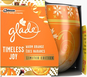 Glade® Duftkerze Timeless Joy Warm Orange