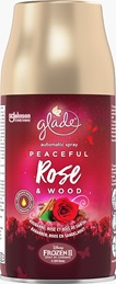 Glade® Automatic Spray™ - Recharge Peaceful Rose & Sandalwood - Senteur Rhubarbe, Rose et Bois de Santal