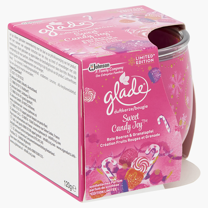 Glade bougie - Sweet Candy Joy  - Création Fruits Rouges et Grenade