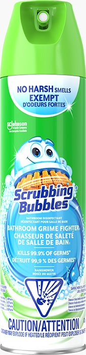 Scrubbing Bubbles® Bathroom Disinfectant Grime Fighter I Aerosol (Rainshower)