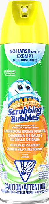 Scrubbing Bubbles® Bathroom Disinfectant Grime Fighter I Aerosol (Citrus)