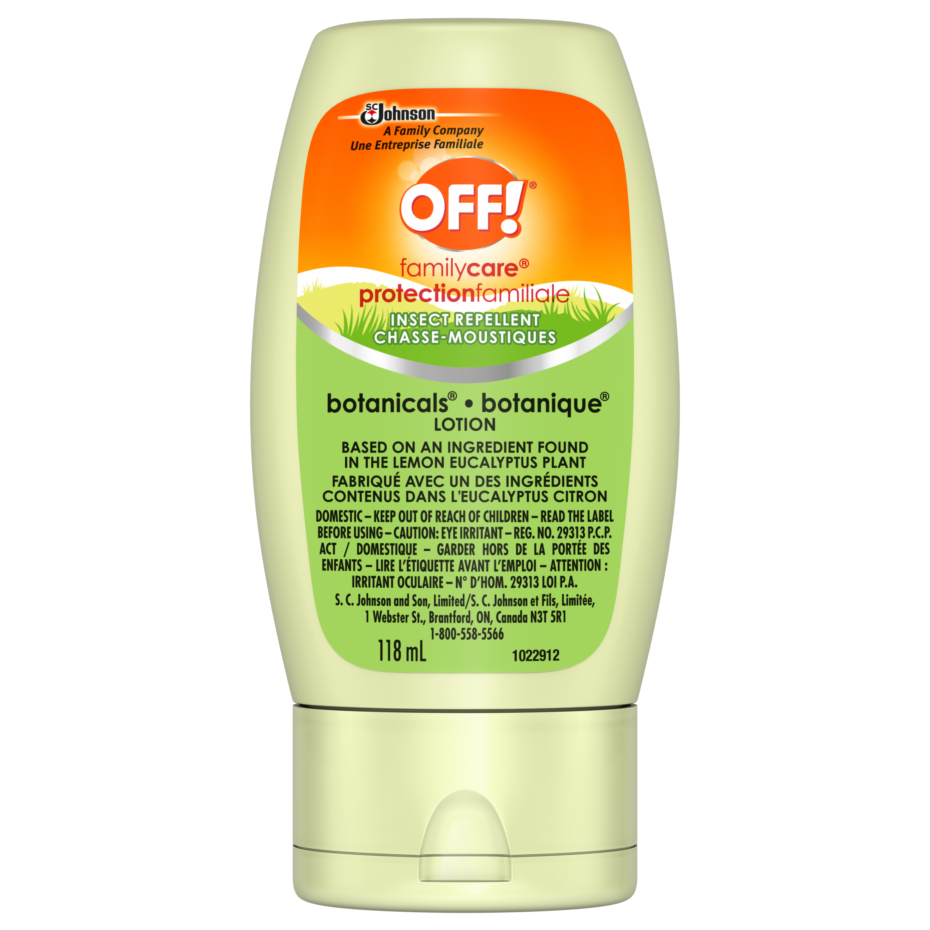 OFF!® Family Care® Botanicals Insect Repellent Lotion