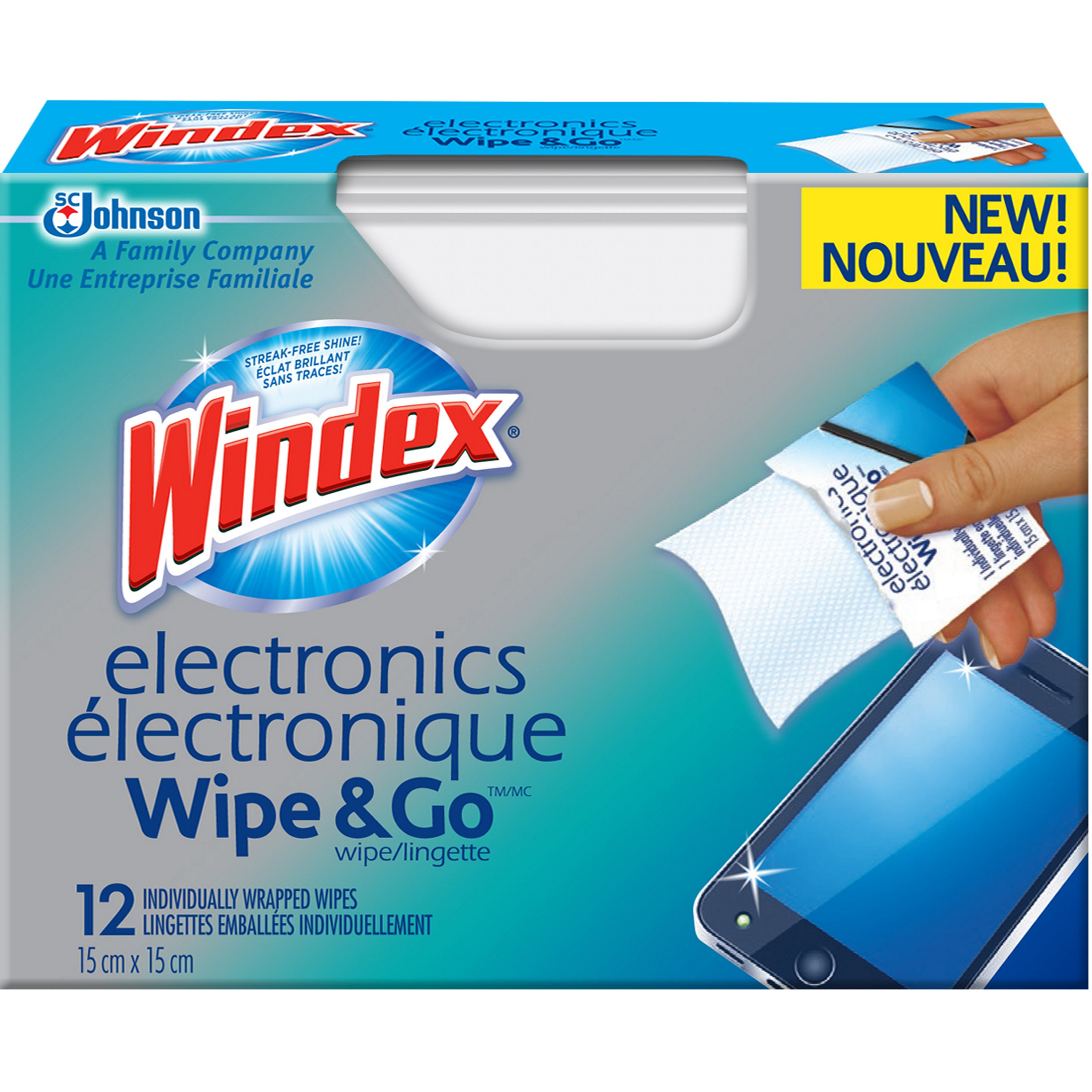 Windex® Electronics Wipe & Go Wipes
