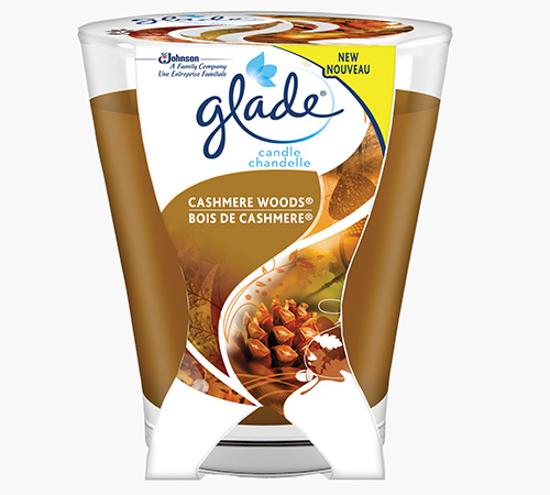 Glade® Cashmere Woods® Large Candle