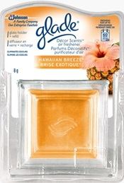 Décor Scents™ Glass Holder and Refill - Hawaiian Breeze®