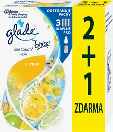Glade® by Brise® One Touch® Citrus náplň 2+1