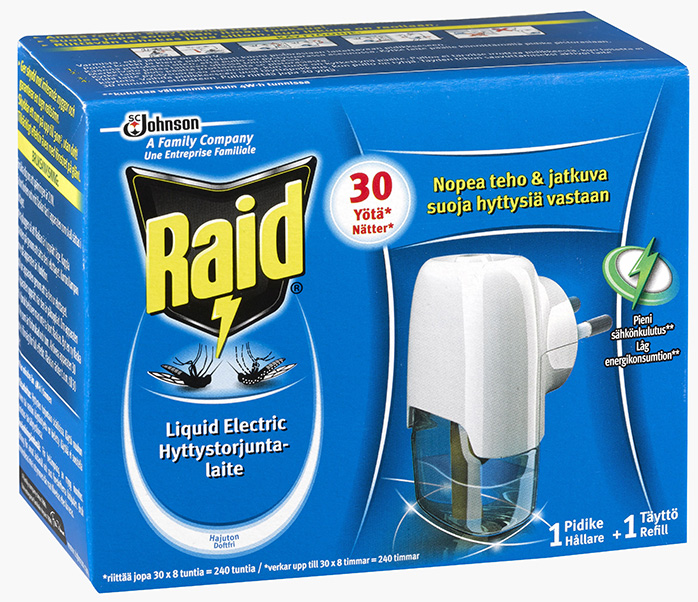 Raid® Liquid Electric myggbekämpningsapparat