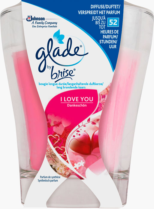 Glade® By Brise® Bougie Longue Durée I Love You