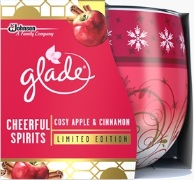 Glade® Cheerful Spirits Cosy Apple and Cinnamon Candle (Discontinued)
