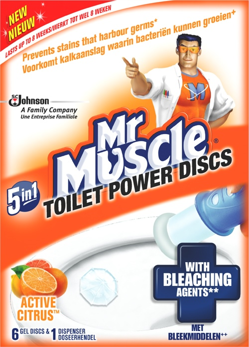 Mr Muscle® Power Discs Active Citrus Holder