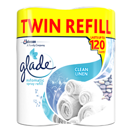 Glade® Large Auto Twin Refill Pure Clean Linen®