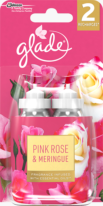 Glade® Sense & Spray™ - Recharge Pink Rose & Meringue duopack