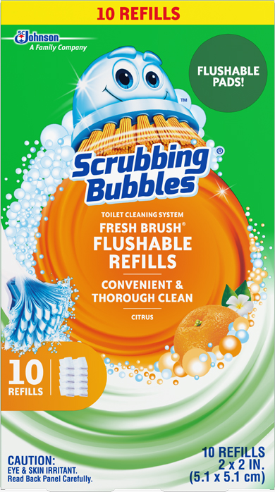 Scrubbing Bubbles® Fresh Brush™ Toilet Cleaning System - Flushable Refills