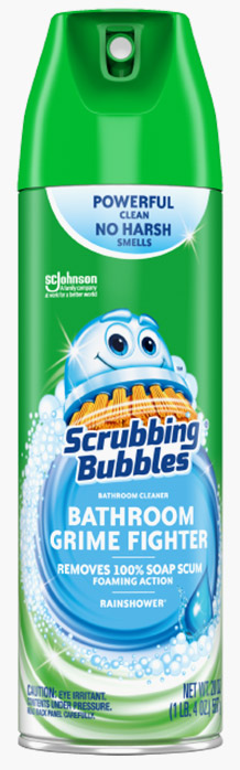 Scrubbing Bubbles® Bathroom Grime Fighter Aerosol - Rainshower®