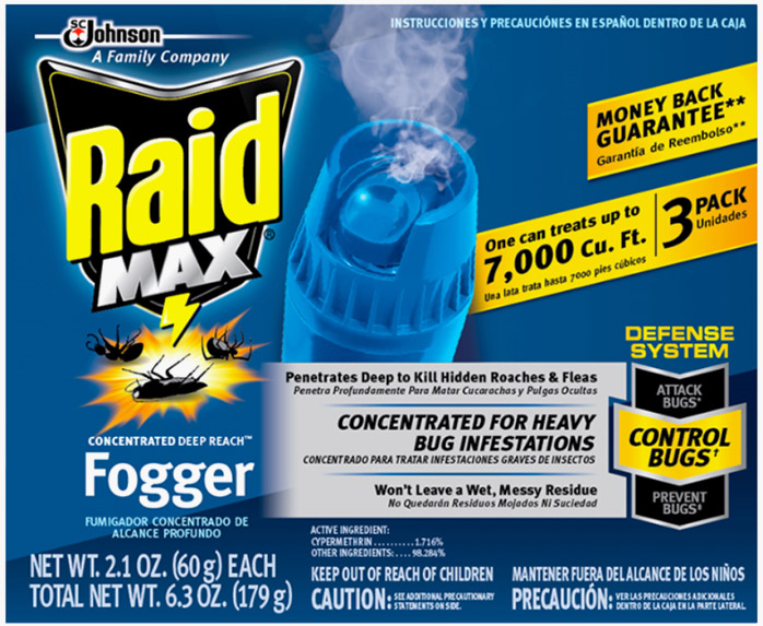 Raid Max® Concentrated DEEP REACH™ Fogger