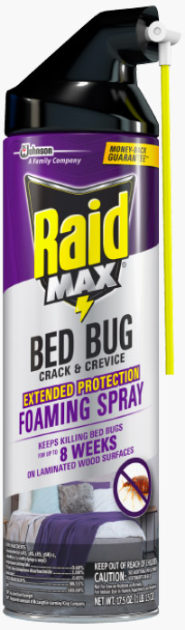 Raid® Max™ Bed Bug Crack & Crevice Extended Protection Foaming Spray