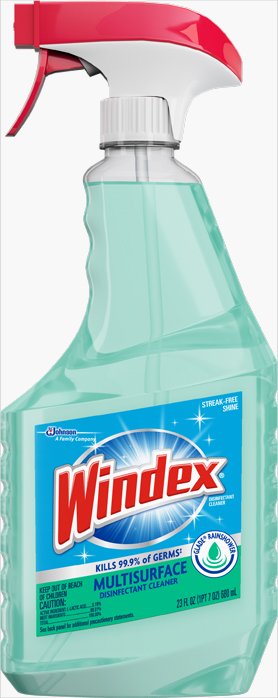 Windex® Disinfectant Cleaner - Glade® Rainshower Scent