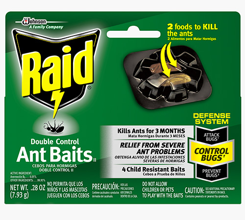 Raid® Double Control Ant Baits (Discontinued)