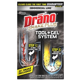 Drano® Commercial Line™ Snake Plus Tool + Gel System