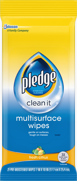 Pledge® Multisurface Wipes - Fresh Citrus