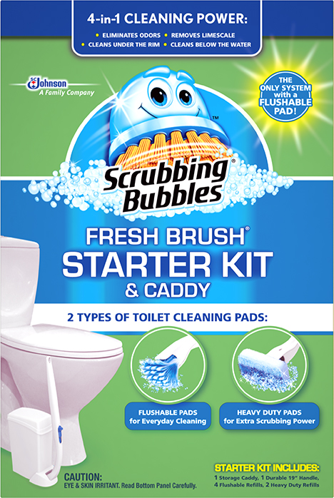 Scrubbing Bubbles® Fresh Brush® Starter Kit & Caddy
