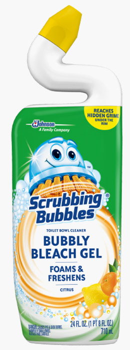 Scrubbing Bubbles® Bubbly Bleach Gel Toilet Bowl Cleaner - Citrus