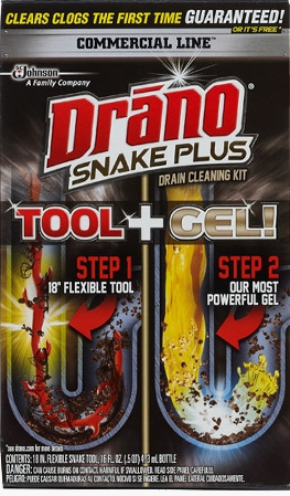 Drano® Commercial Line Snake Plus Tool + Gel System