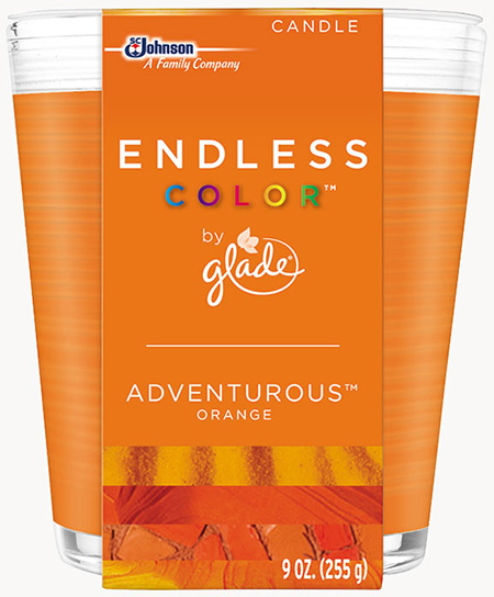 Glade® Endless Color™ Candle - Adventurous™ Orange