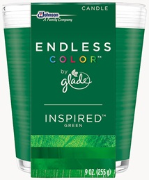 Glade® Endless Color™ Candle - Inspired™ Green