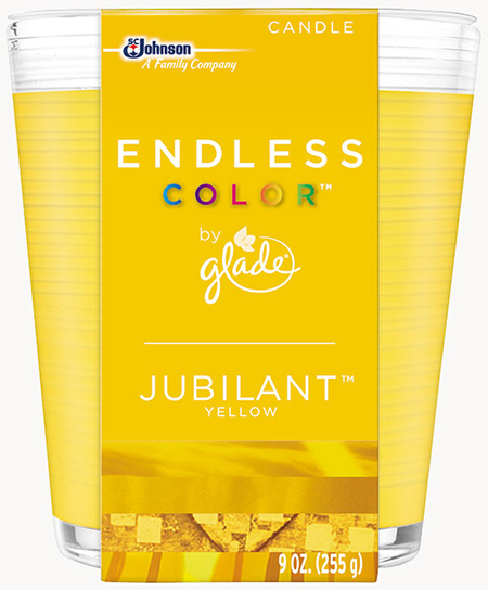 Glade® Endless Color™ Candle - Jubilant™ Yellow