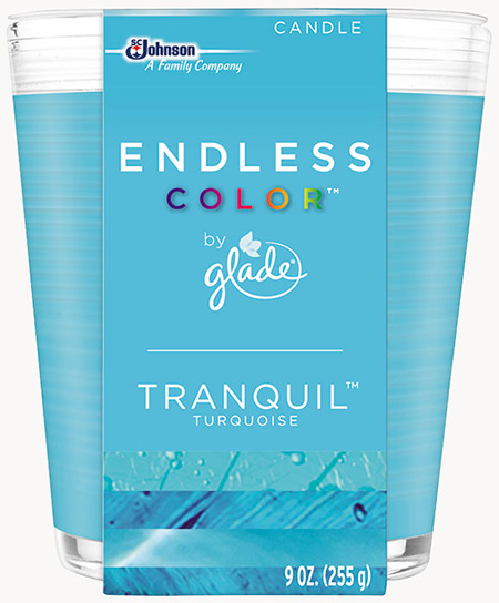 Glade® Endless Color™ Candle - Tranquil™ Turquoise