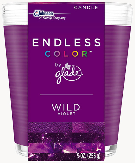 Glade® Endless Color™ Candle - Wild Violet