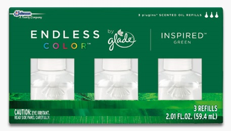 Glade® Endless Color™ PlugIns® Scented Oil Refills - Inspired™ Green