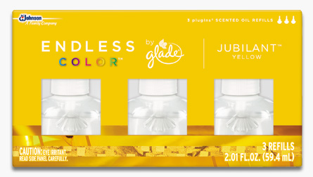 Glade® Endless Color™ PlugIns® Scented Oil Refills - Jubilant™ Yellow