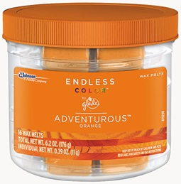 Glade® Endless Color™ Wax Melts - Adventurous™ Orange
