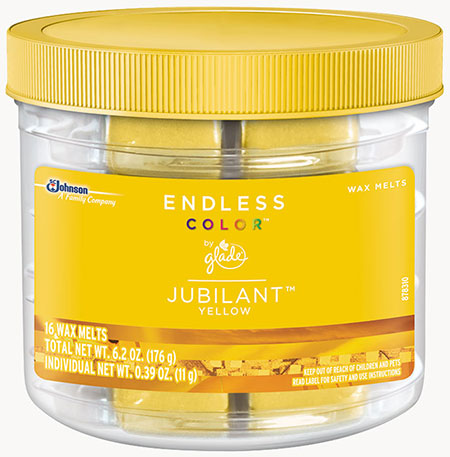 Glade® Endless Color™ Wax Melts - Jubilant™ Yellow
