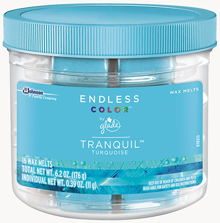 Glade® Endless Color™ Wax Melts - Tranquil™ Turquoise