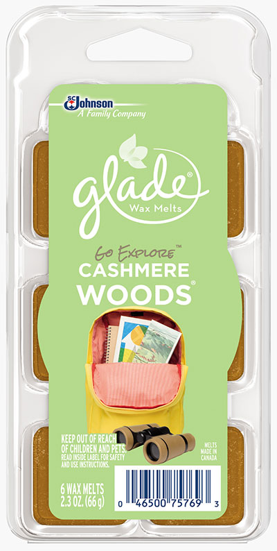 Glade® Wax Melts - Go Explore™ Cashmere Woods®